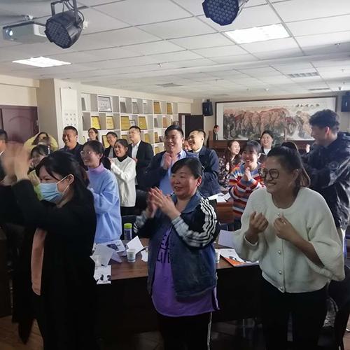 祝贺曹勇老师为河南某建筑企业《谈判沟通与客情维护》授课成功!